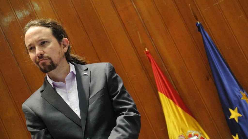 Pablo Iglesias, durante el acto de traspaso de carteras, como vicepresidente segundo del Gobierno.
