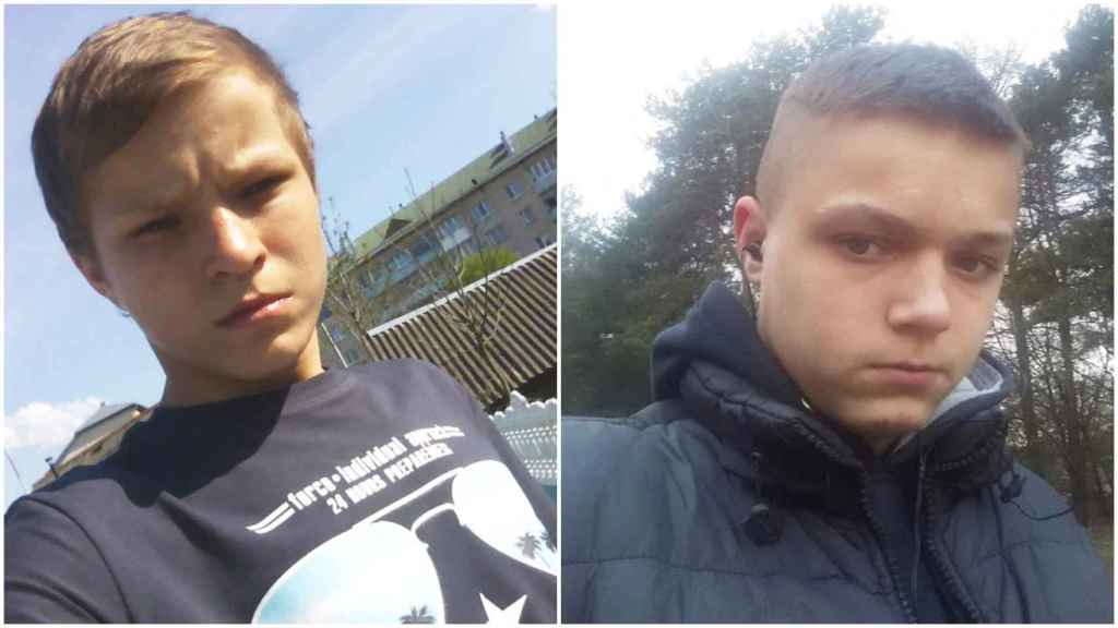 A la izquierda, Stanislaw Kostsew y, a su lado, su hermano Illya, ambos ejecutados por la justicia bielorrusa.
