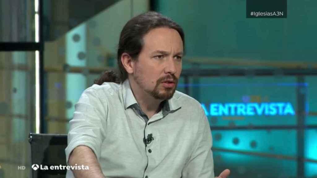 Pablo Iglesias en su entrevista en Antena 3.