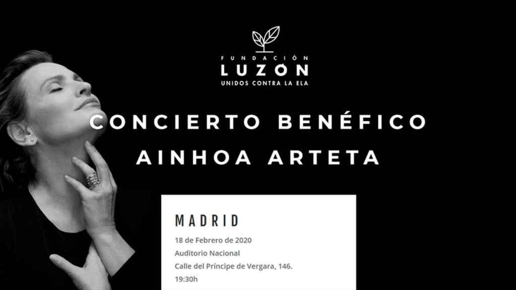La Fundación Luzón organiza un concierto de Ainhoa Arteta para luchar contra la ELA