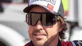 Fernando Alonso, tras quedar segundo en la octava etapa del Dakar 2020