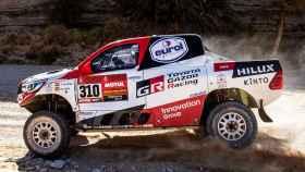 Fernando Alonso, en la novena etapa del Rally Dakar