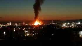 Imagen de la explosión en Tarragona.