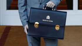 El ministro de Consumo, Alberto Garzón, llega para asistir a la primera reunión del gabinete en el Palacio de la Moncloa.