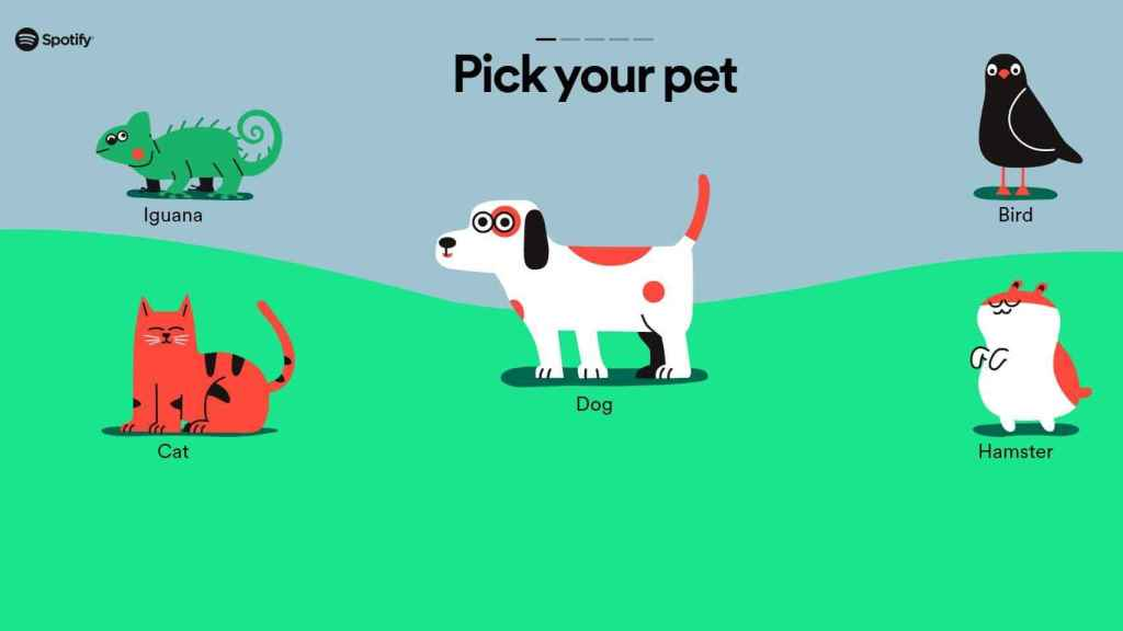 Selección de mascotas en Spotify Pets