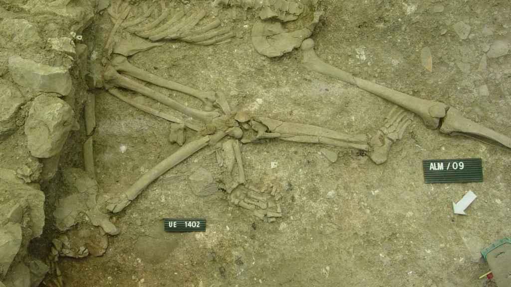Cadáveres mutilados del Cerro de la Cruz.