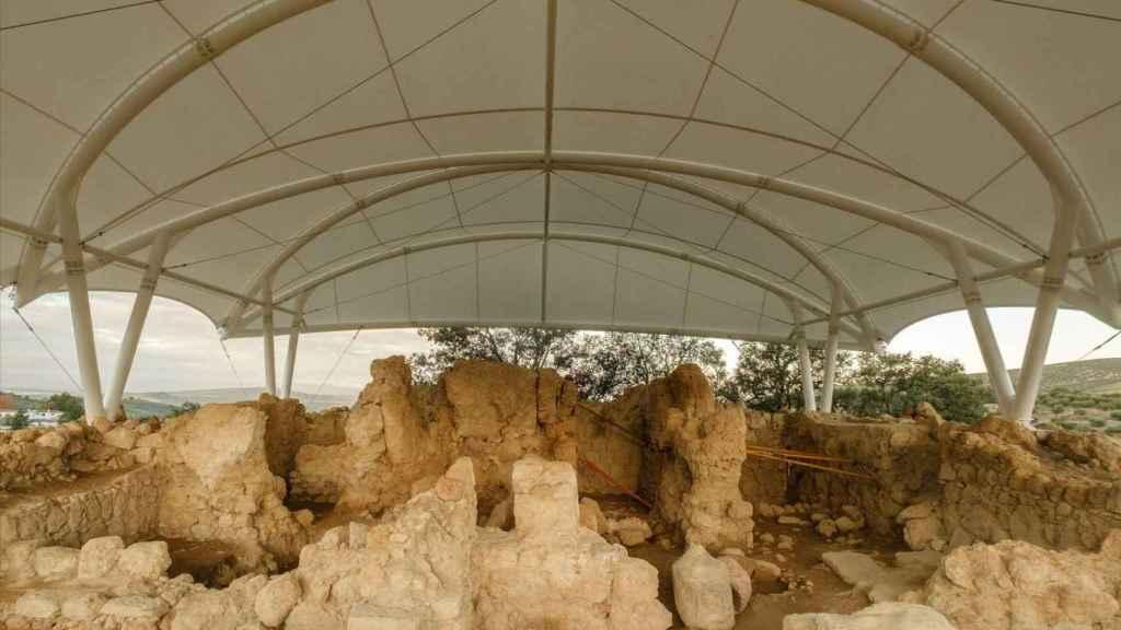 La cubierta recién instalada en el Cerro de la Merced.