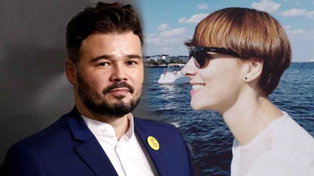 Gabriel Rufián y su nueva novia, en un montaje de JALEOS.