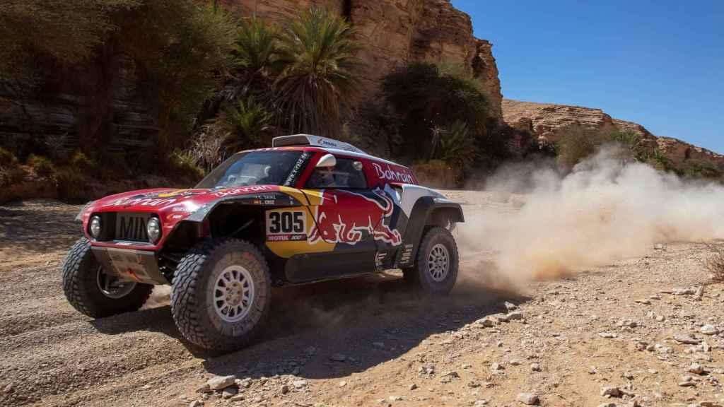 Carlos Sainz, en una etapa del Rally Dakar