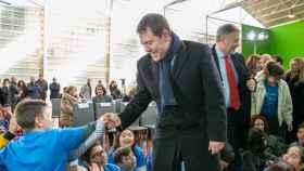Page, en su visita este miércoles al Colegio de Educación Infantil y Primaria 'Federico Muelas' de Cuenca