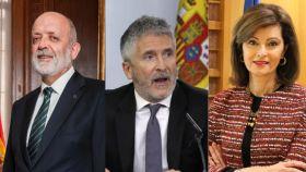 Félix Azón, Fernando Grande-Marlaska y Ana Botella.