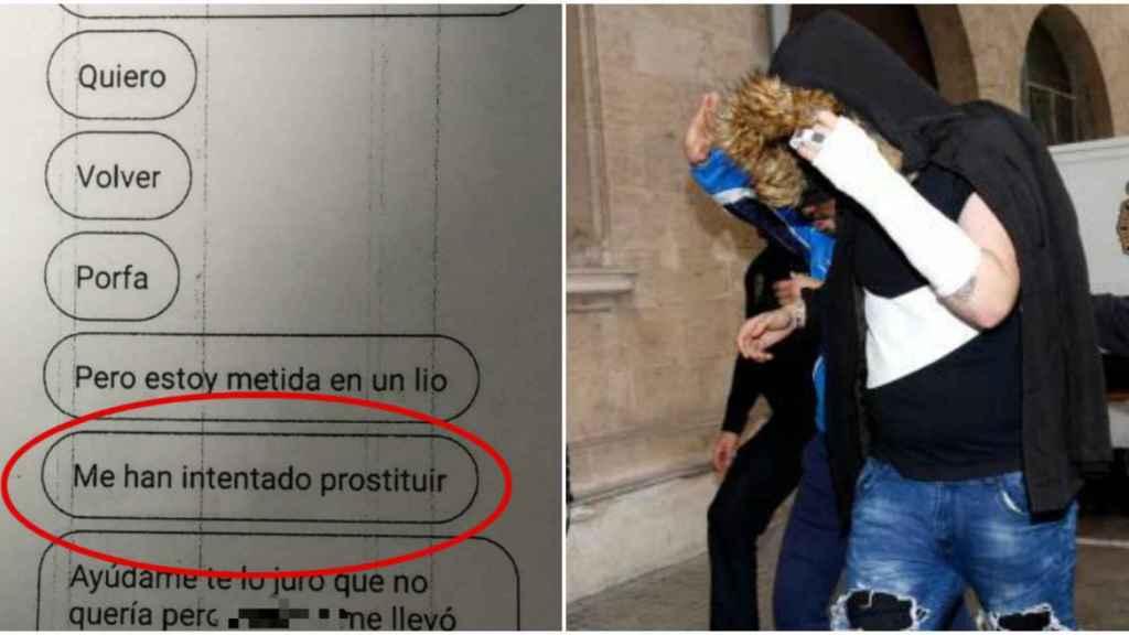 El único adulto detenido por la violación grupal, a su llegada a los juzgados de Palma.