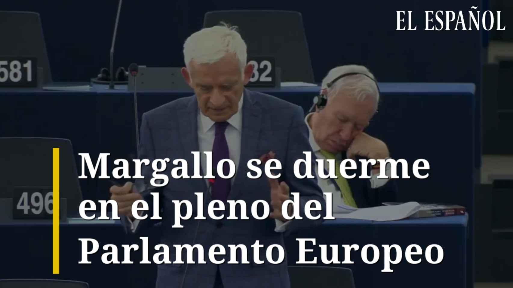 Margallo se duerme en el pleno del Parlamento Europeo