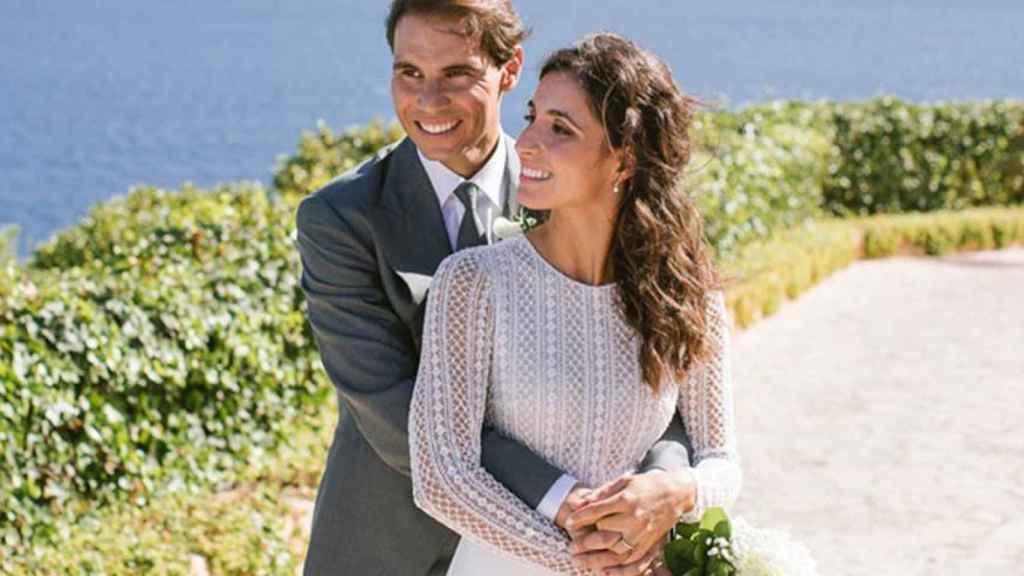 Rafa Nadal y Xisca, en su boda.