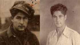 Dos retratos de Marcelino Bilbao de joven.