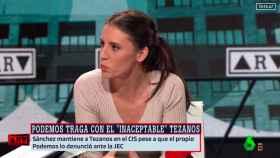 Irene Montero, ministra de Igualdad, este jueves en una entrevista en La Sexta.