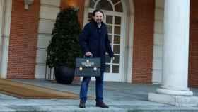 Pablo Iglesias, a su llegada al primer Consejo de Ministros como vicepresidente social.