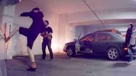 Captura del vídeo que muestra el acto de vandalismo.