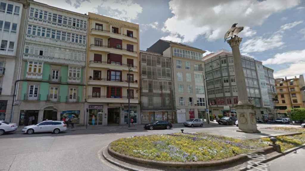 La Plaza de Santo Domingo, en Lugo, donde ha sucedido la agresión.