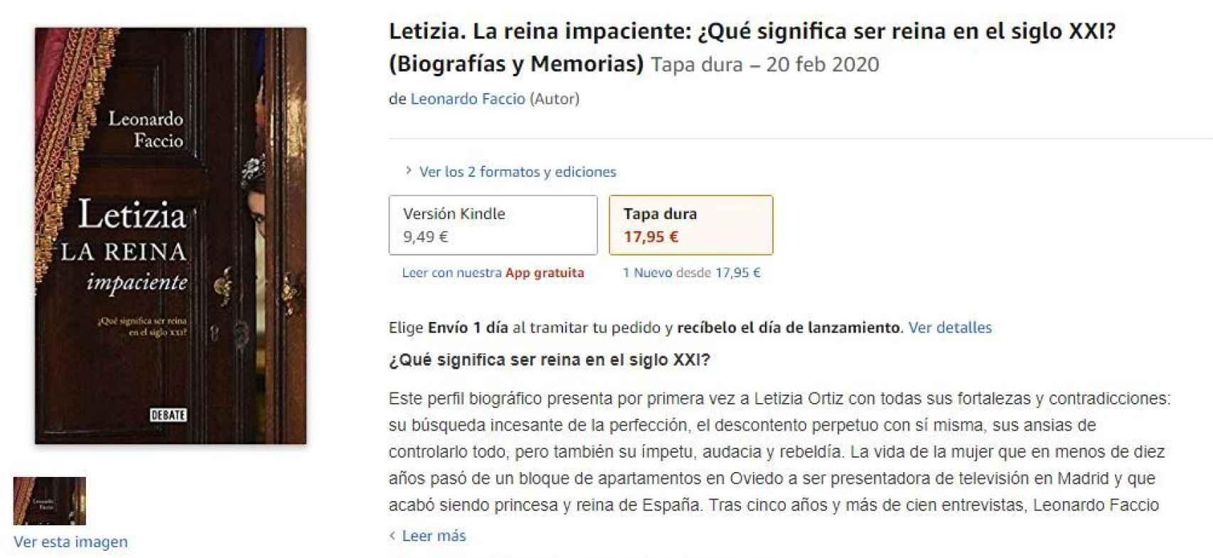 'Letizia, la reina impaciente: ¿qué significa ser reina en el siglo XXI', ya disponible en Amazon.