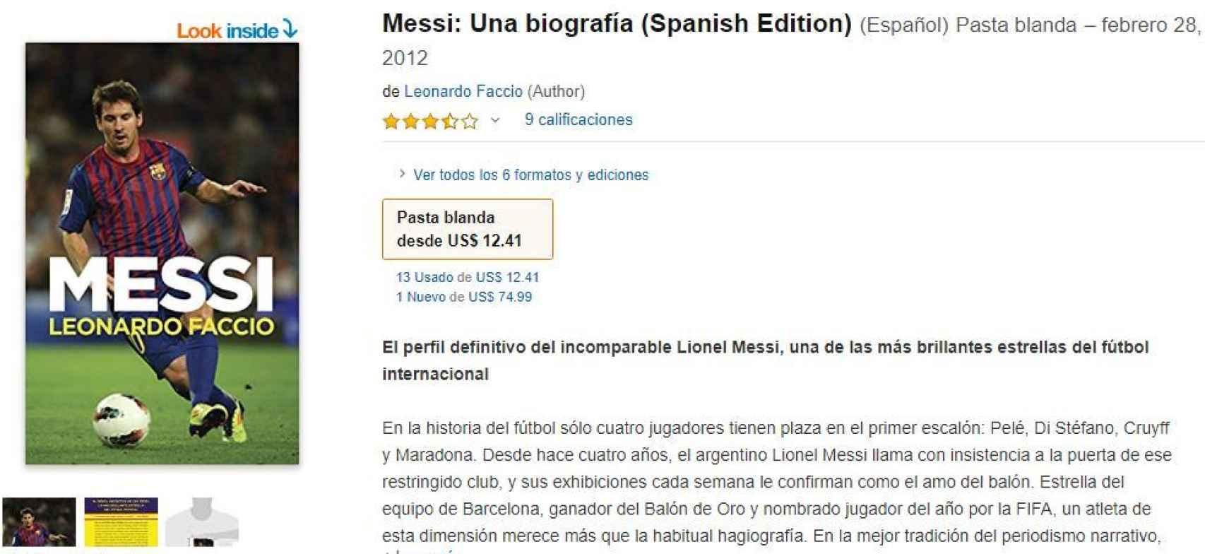 Leonardo Faccio también escribió la biografía no autorizada de Messi.