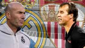 Zinedine Zidane y Julen Lopetegui