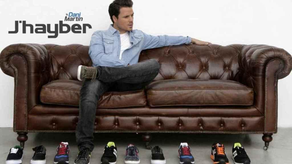 Imagen de la campaña publicitaria de J'hayber con el cantante Dani Martín.