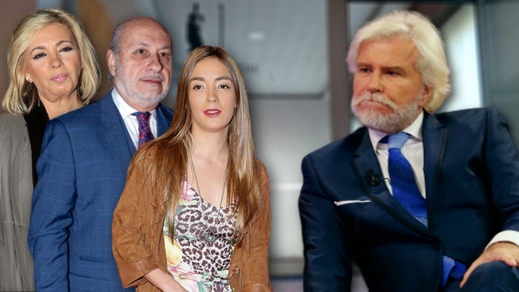 Carmen Borrego, su marido y su hija en montaje JALEOS junto a Edmundo.