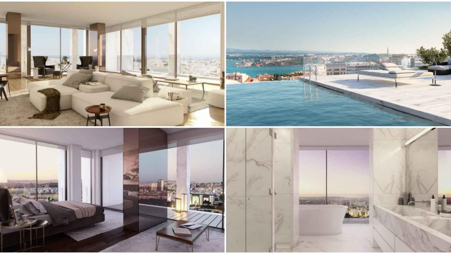 El interior del apartamento más caro de Portugal que pertenece a CR7.