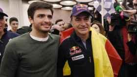Carlos Sainz Jr. junto a su padre Carlos Sainz