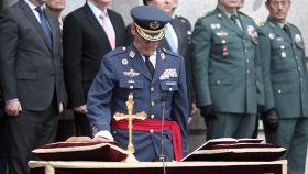 El nuevo JEMAD, Miguel Ángel Villarroya, en su toma de posesión.
