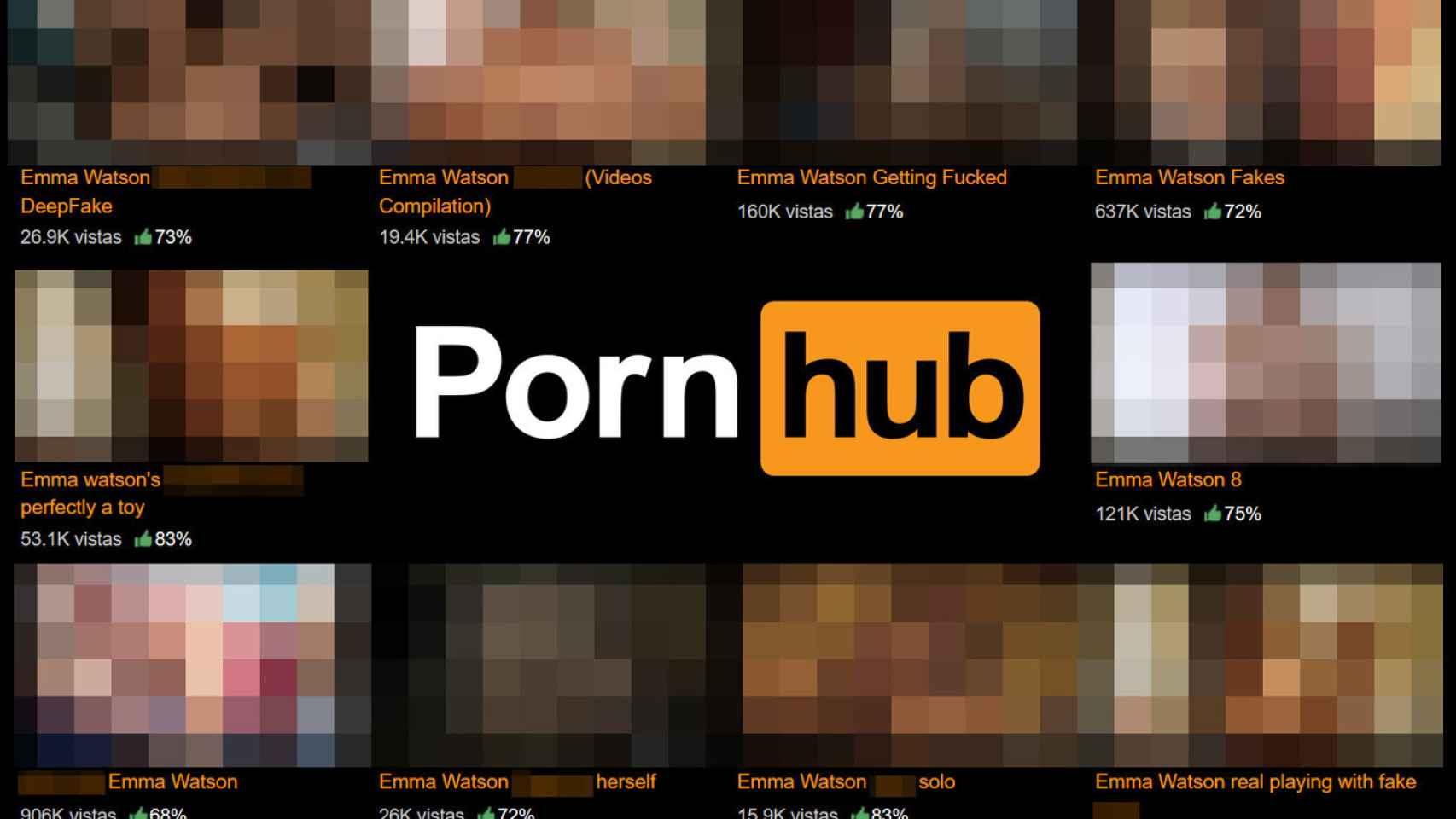 Página de Pornhub.