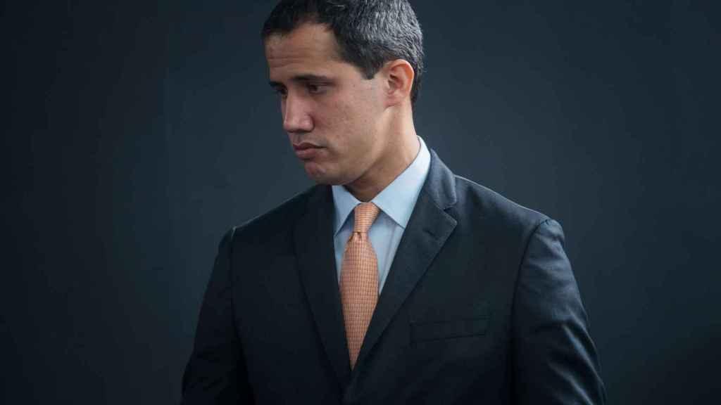 Guaidó, durante una sesión parlamentaria en la sede de el Hatillo, en Caracas