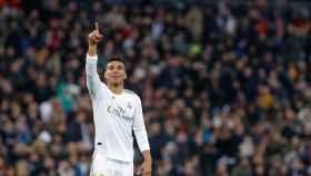 Casemiro celebra un gol con el Real Madrid
