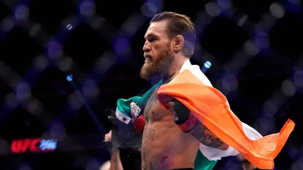 McGregor tras haber ganado a Cerrone en UFC 246