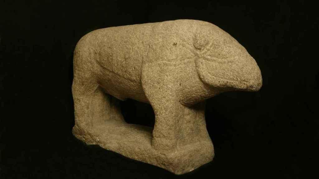 Verraco hallado en Ávila y tallado en torno a los siglos IV-II a.C.