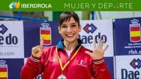 Sandra Sánchez, durante el campeonato