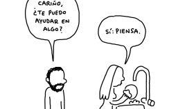 Una de las viñetas de Homo Machus, de Javirroyo.