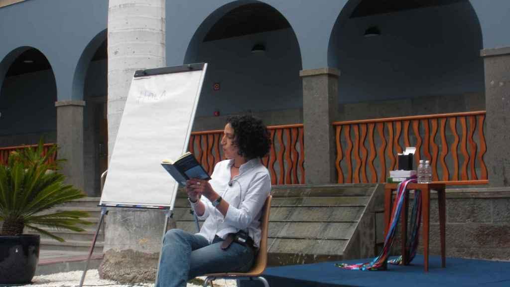 Zoubida Boughaba, retratada tras la entrevista en Melilla.