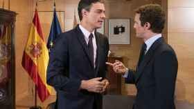 Sánchez y Casado, durante una de sus últimas reuniones.