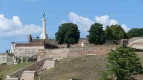 La fortaleza de Kalemegdan, desde donde se divisa el transcurso de los ríos Sava y Danubio.