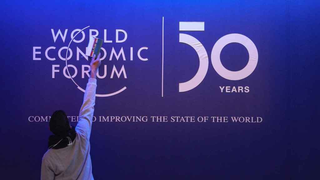 Imagen de la 50 edición del Foro de Davos.