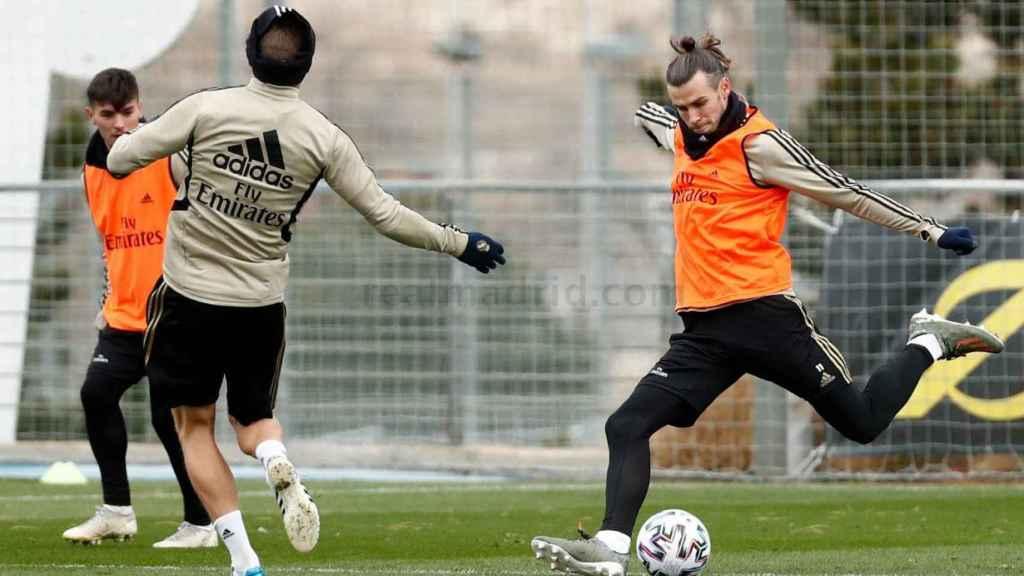 Gareth Bale se entrenó con normalidad