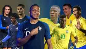 La Francia de Mbappé y la Brasil de Vinicius, Rodrygo y Reinier