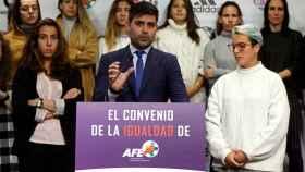 Rueda de prensa de futbolistas femeninas de primera división por el Convenio Colectivo