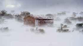 Paisaje nevado cerca de la localidad cántabra de Brañavieja. EFE/Pedro Puente Hoyos