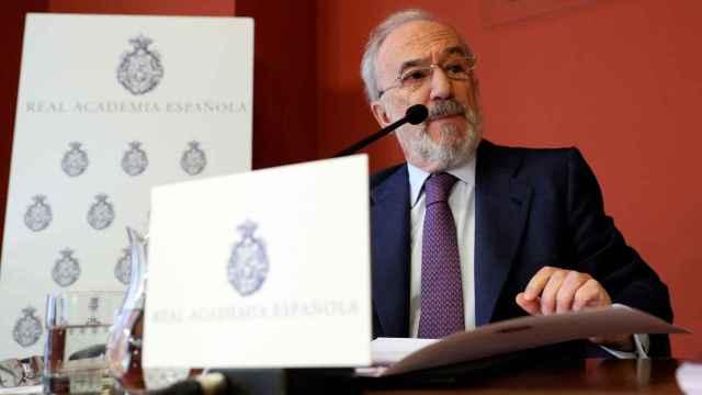 Imagen de archivo de Santiago Muñoz Machado, director de la RAE, durante la presentación del informe sobre el lenguaje inclusivo.
