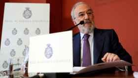 Santiago Muñoz Machado, director de la RAE, durante la presentación de un informe.