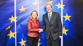 Nadia Calviño se ha reunido este lunes con el comisario de Asuntos Económicos, Paolo Gentiloni