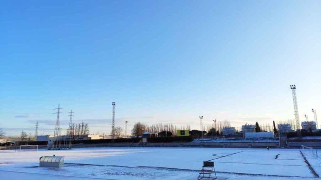 Las Pistas amanecen nevadas antes del Unionistas - Real Madrid
